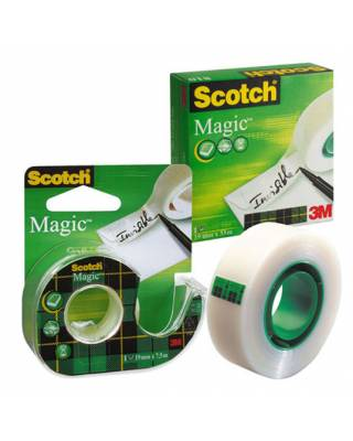 Клейкая лента канцелярская 3M Scotch Magic 810 7100029434 прозрачная шир.19мм дл.33м невидимая