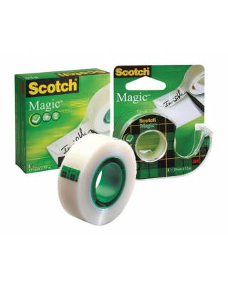 Клейкая лента канцелярская 3M Scotch Magic 7000038136 шир.19мм дл.7.5м невидимая на диспенсере