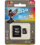 Флеш карта microSDHC 16Gb Class10 Silicon Power SP016GBSTHBU1V10-SP + adapter